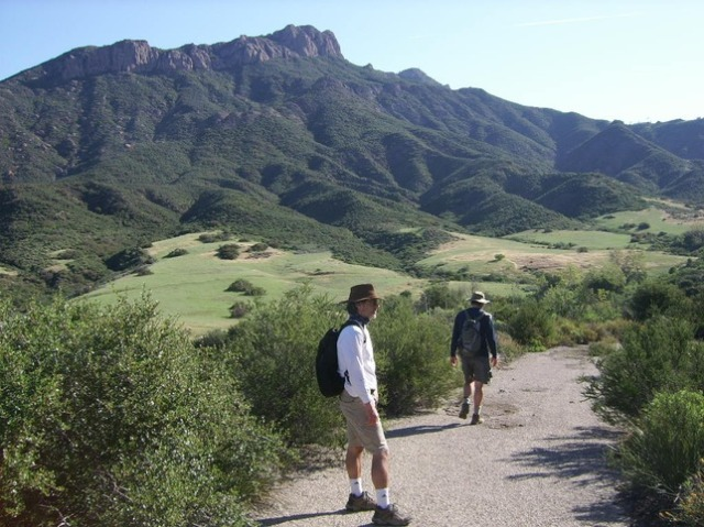 Marco and Dennis on the trail near Sandstone