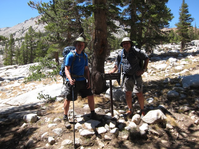 Entering the JMT at Woods Creek