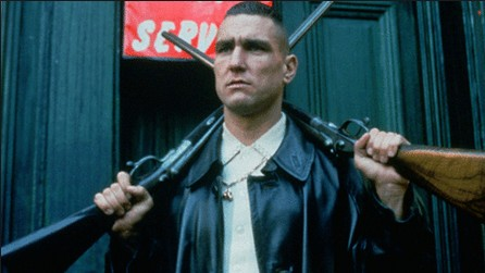 "Vinnie Jones in ""Lock,Stock, and Two Smoking Barrels."""