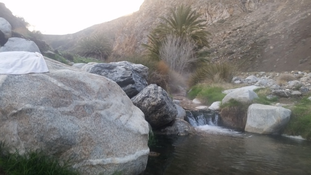 My personal hot tub in Sespe
